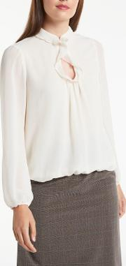 Long Sleeve Frill Detail Blouse