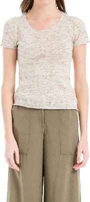 Short Sleeve Knitted Top, Oatmeal