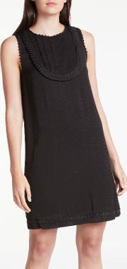 Sleeveless Bib Detail Dress