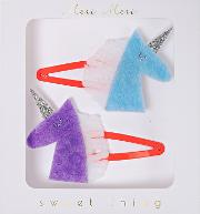 Unicorn Hair Clips, Pack Of 2
