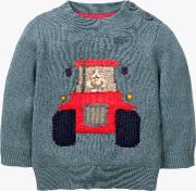 Baby Fun Tractor Knitted Jumper