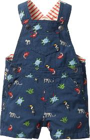 Baby Jungle Embroidered Dungarees