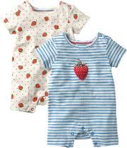 Baby Strawberry Romper, Pack Of 2