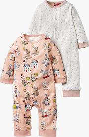 Twin Abc Romper, Pack Of 2