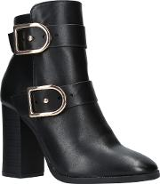 Spring Block Heeled Ankle Boots