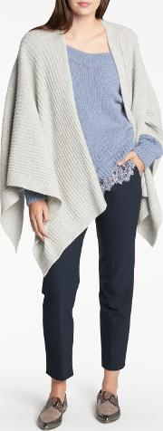 Luxury Cashmere Ribbed Cape