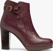 Olena Block Heeled Ankle Boots