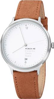 Mh1l2210lg Unisex Helvetica Leather Strap Watch