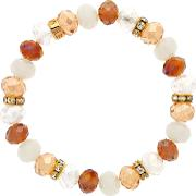 Bead And Crystal Rondel Stretch Bracelet