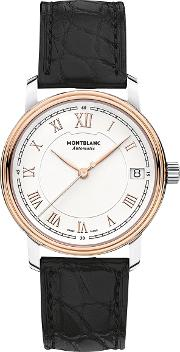 114368 Women's Tradition Date Automatic Alligator Leather Strap Watch