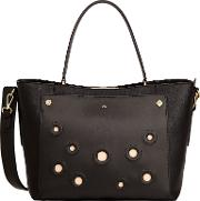 Heidi Shopper Bag, Black Rings