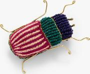 Beaded Insect Brooch
