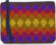 Colour Therapy Beaded Sling Clutch