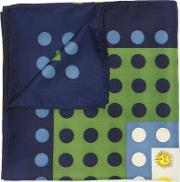Suns And Dots Square Scarf