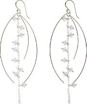 Nina B Sterling Silver And Clear Crystal Drop Earrings