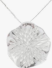 Sterling Silver Wavy Disc Pendant