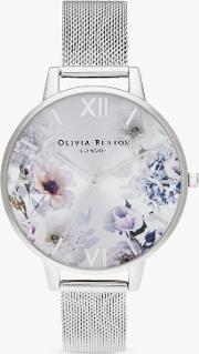 Ob16eg117 Women's Sunlight Florals Mesh Bracelet Strap Watch