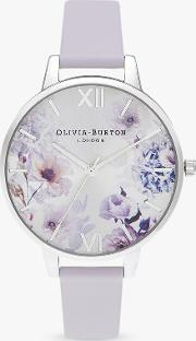 Ob16eg137 Women's Sunlight Florals Leather Strap Watch