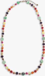 Bright Bead Long Necklace