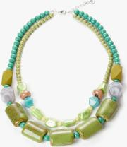 Double Layer Ceramic Bead Necklace