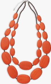 Large Double Row Pebble Necklace