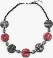 Marble Disc Necklace