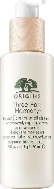 Three Part Harmony Foaming Cream To Oil Cleanser