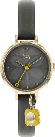 Womens Ivy Leather Strap Watch