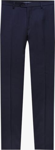 Wool Regular Fit Suit Trousers