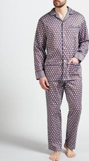 Cravat Print Cotton Pyjamas