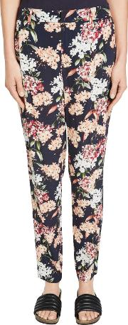 Floral Print Trousers, Multi