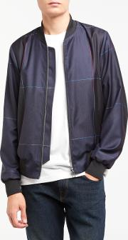 Ps By  Windowpane Check Wool Bomber Jacket