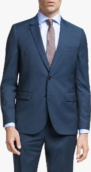 Wool Mohair Tailored Fit Suit Jacket