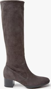 Ailo Block Heeled Knee High Boots