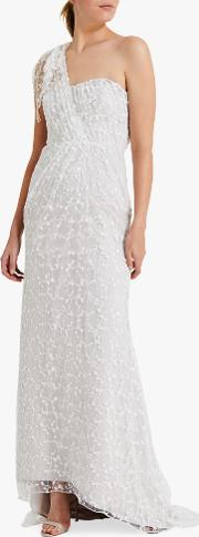 Phase Eight Anabel Embroidered One Shoulder Wedding Dress