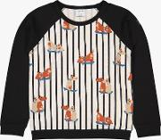 Children's Stripe Dog Print Top