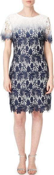 Connie Lace Shift Dress, Bluemulti