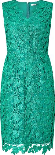Dhalia Lace Shift Dress, Mid Green