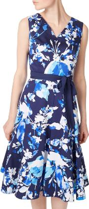 Floral Prom Dress, Multiblue