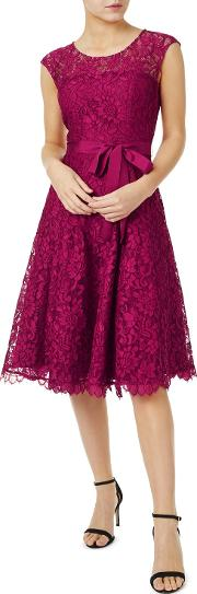 Jada Lace Prom Dress, Dark Pink