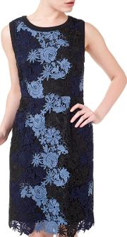 Jeff Banks Lace Dress, Bluemulti