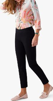Cotton Stretch Cropped Trousers