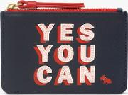 Motivational  Leather Zip Top Coin Purse