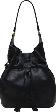 Rose Court Leather Large Scoop Hobo Bag