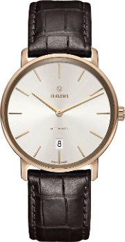 R14068026 Men's Diamaster Date Automatic Leather Strap Watch