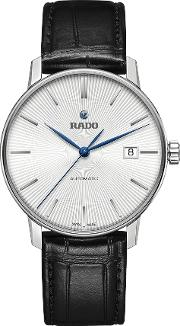R22860045 Unisex Coupole Classic Automatic Date Leather Strap Watch