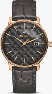 R22877165 Unisex Coupole Classic Date Automatic Leather Strap Watch