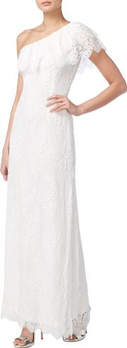 One Shoulder Beaded Bridal Gown