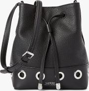 Lauren  Debby Ii Drawstring Leather Bucket Bag