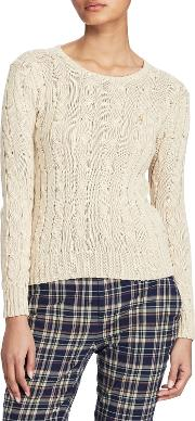 Polo  Cable Knit Cotton Jumper